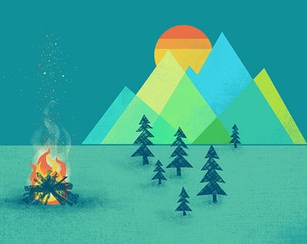 The Bonfire Print