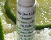 Organic Coconut Lime Lip Balm made with Fair Trade Shea butter and Local Beeswax in a twist tube
