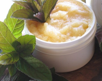 Organic Mint Edible Body Butter 1 1/2 oz size - A little goes a long way - Great for a Valentines Day - or - Bridal Shower Gift