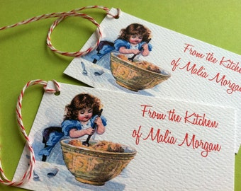 Personalized Baking Gift Tags - Set of 20