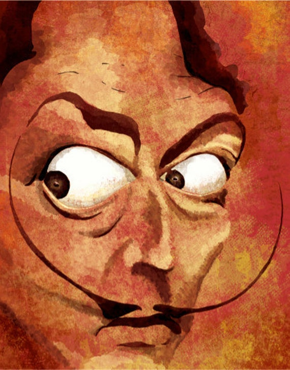 Salvador Dali's A Thousand Gazes - 12x18 High Quality Art Print