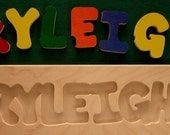 Wooden Custom Name Puzzle - any name