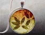 Autumn Leaves pendant, leaf necklace charm, leaf jewelry, leaf jewellery, tree jewelry