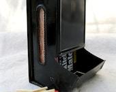 Vintage Matchbox Holder Black Metal  Oven Fireplace Kitchen from Tessiemay