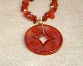 Carnelian necklace with A...