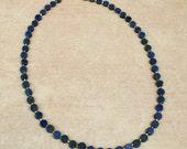 Lapis lazuli coin bead ne...