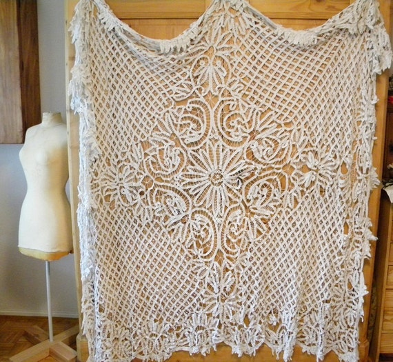 antique french lace tablecloth