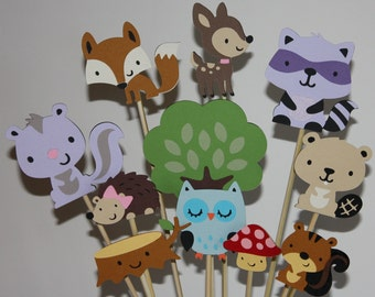 Forest and woodland animal friends centerpiece