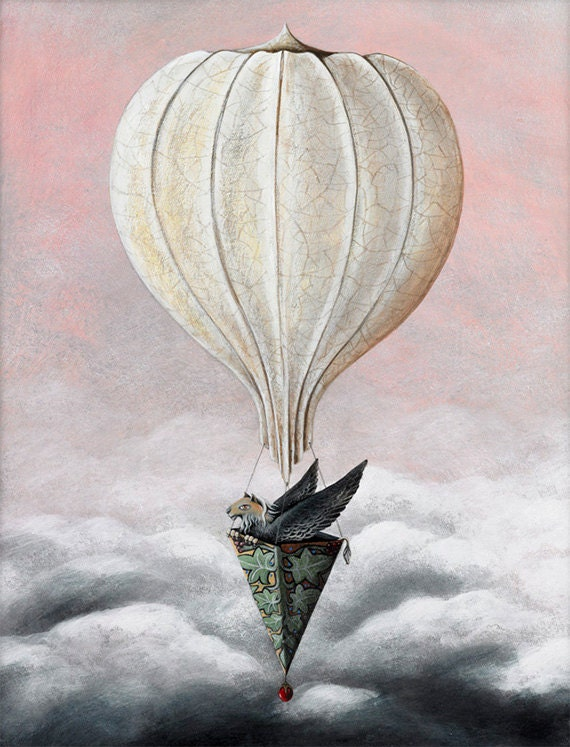 Gryphon Hot Air Balloon - Limited Edition Print