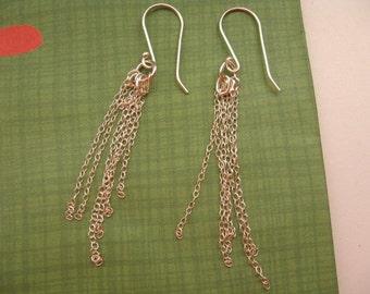 Dainty Earrings, Silver Dangle Earrings, Everyday Jewelry, Teen Earrings, Delicate Earrings, silver Lightweight Layered Earrings