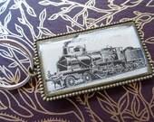 Locomotive key chain - Vintage image