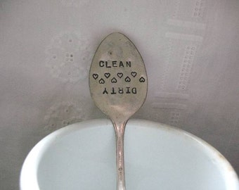 Vintage Silverware Clean Dirty Dishwasher Magnet