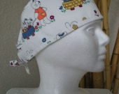 SALE!! Bunny Wagon - Tie-back Surgical Scrub Hat for Medical Personnel