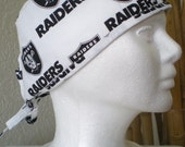 Raiders Fan - Male/Unisex Tie-Back Surgical Scrub Hat for Medical Personnel