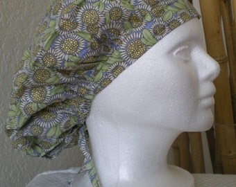 Sunflowers - Bouffant Tie-back Surgical Scrub Hat for Medical Personnel