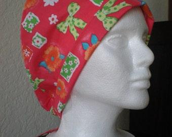 Sweet Natalie - Tie-back Surgical Scrub Hat