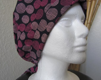 A Pink Mesh - Tie-back Surgical Scrub Hat