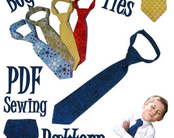 Boys Neck Tie PDF Sewing Pattern