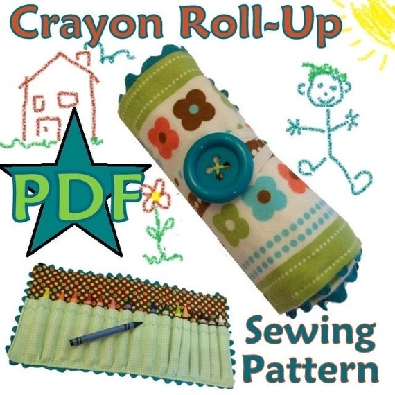 Childrens Diy Crayon Rollup Pdf Sewing Pattern