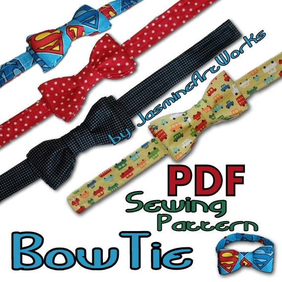 Bow Tie DIY PDF Sewing Pattern