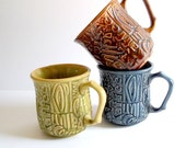 Vintage Kitsch Ceramic Coffee Mugs