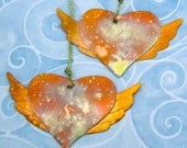 Copper Winged Heart Ornament