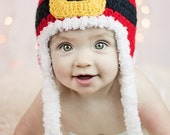 Crochet Pattern, Santa Christmas Hat - Instant Download Crochet Pattern