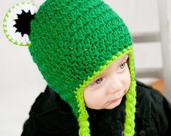 Frog Hat Pattern - Instant Download Crochet Pattern