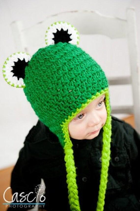 Frog Hat Pattern - Instant Download Crochet Pattern