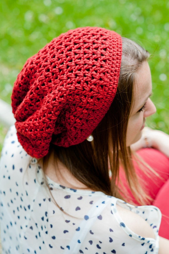 Crochet Pattern - Women's Hat, Seattle Slouch Crochet Beanie Pattern - Teen & Adult Size