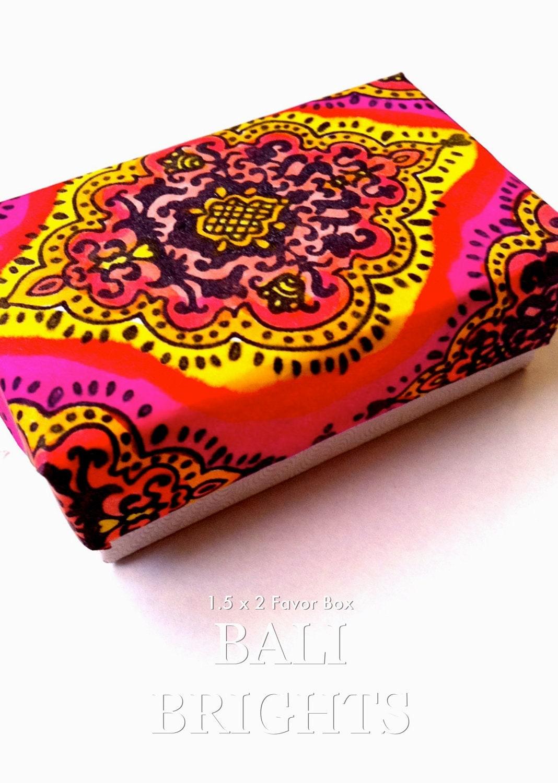 Wedding Gift Boxes Durban : Bali Brights Favor Box