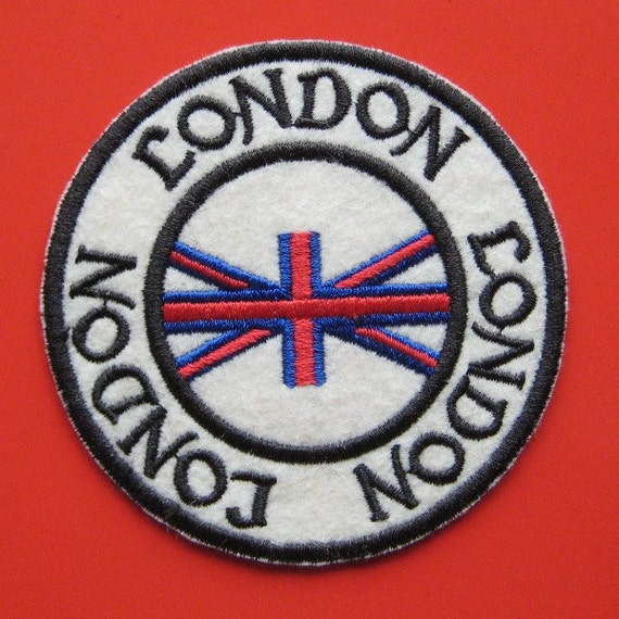 Sale iron on embroidered patch london inch from