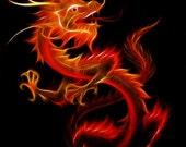 el dragon del infierno -- 8x10 Original Signed Fine Art Print