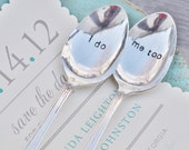 I Do, Me Too - Vintage Wedding Spoon Set Personalized with Your Wedding Date by jessicaNdesigns on Etsy