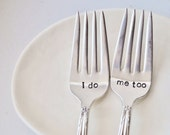 I Do, Me Too - Vintage Wedding Cake Forks (Matching Set)