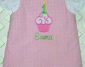 Girls Birthday Cupcake Jumper Personalized