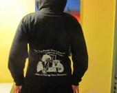 Animal Rights Hoodie - Animal Liberation Hoodie, Medium, White Ink on Black Hoodie, Silkscreen Screenprint image, Vegan Hoodie, herbivore