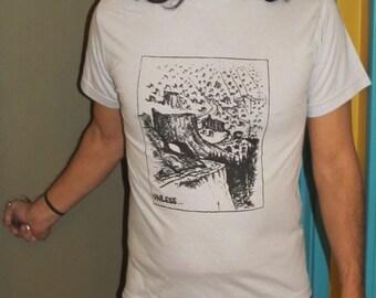 Unless... TShirt -  Lorax Tree Shirt Theme Forest Clearcut Print, Small, White - unisex, dr. seuss screenprint, environmental tshirt