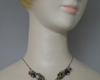 Lampworked Heart Necklace