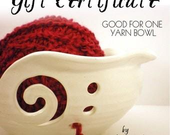 Yarn Bowl - Crochet And Knitting Helper - Gift Certificate