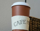 Drink Cozy Eco Friendly Wool Coffee or Tea  with Cafe Mocha