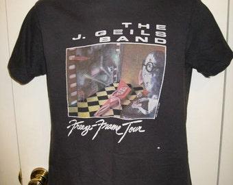Vintage J Geils Band 1981 Freeze Frame Tour 80s Rock T-shirt size Large