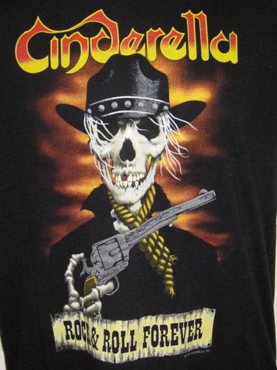 Vintage 1989 Cinderella  Long Winter Tour 80s Rock Band T-shirt size Large