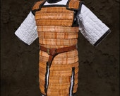 Longbard lamellar leather armour, viking, armatura lamellare longobarda in cuoio, historical reenactment