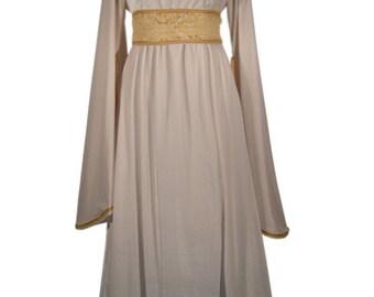 Grace fantasy medieval renaissance wedding dress, entirely in fine brocade and chenille velvet or velvet, custom made