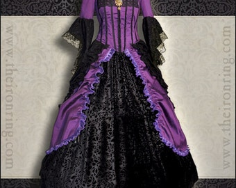 Made to order  fantasy victorian renaissance marie antoniette gothic dress, custom made