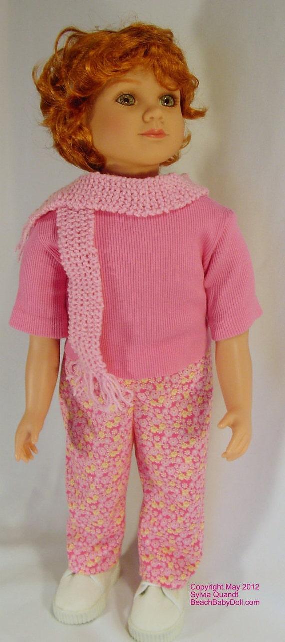 Simple Pants Pattern, My Twinn 23 in dolls pajama pants, scrub pants, karate pants  instant download pdf guide, printable