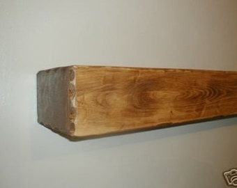 "60"" x 8"" x 5 1/2""  Custom Built Rustic Fireplace Mantle / Mantel"