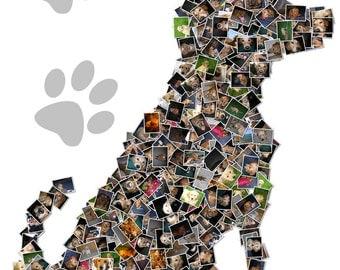 Dog Art Pet Art Custom Canvas Mosaic Collage Picture Gift Pet Lover Wall Art 16x20