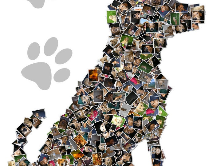 Dog Art Pet Art Custom Canvas Mosaic Collage Picture Gift Pet Lover Wall Art 16x20